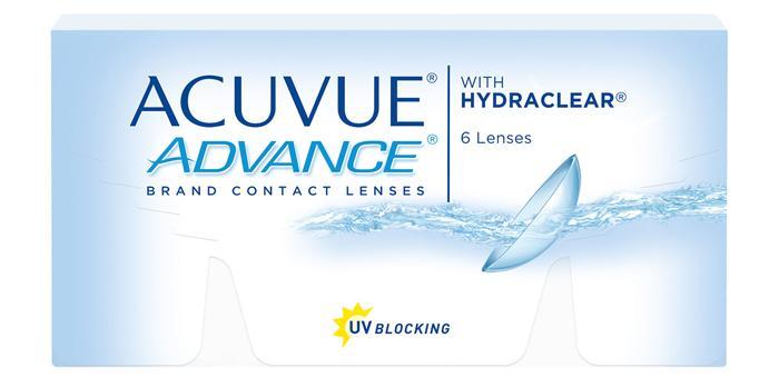 Контактные линзы Acuvue advance with hydraclear