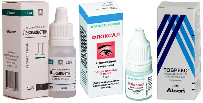 Глазные капли Левомицетиновые, Тобрекс, Флоксал