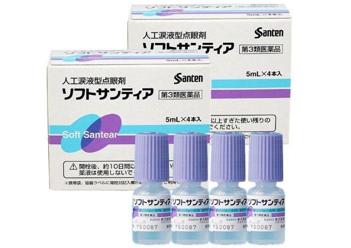 Японские глазные капли Santen Soft Santear
