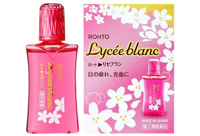 Японские капли для глаз Rohtо Lycee Blanc