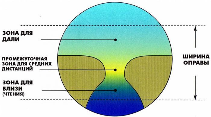 Как устроены прогрессивные линзы для очков