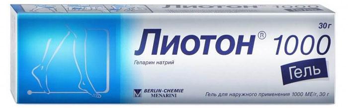 Лекарственный препарат Лиотон-гель