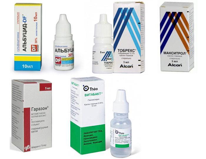 Лекарственные препараты для глаз
