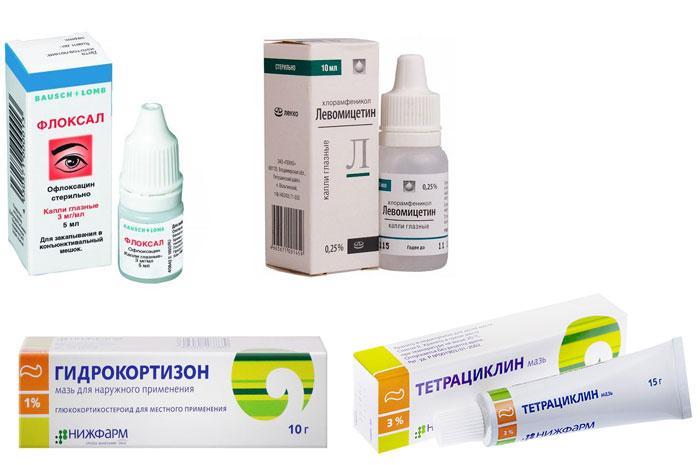 Лекарства от ячменя на глазу