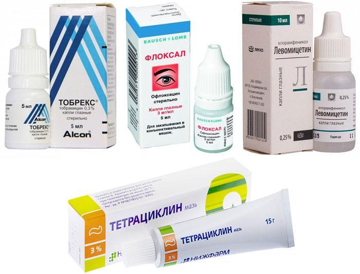 Лекарственные препараты от гнойного конъюнктивита