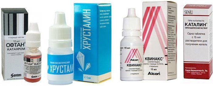 Лекарственные препараты при помутнении хрусталика
