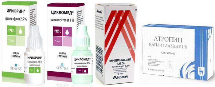 Лекарственные препараты для лечения аккомодации