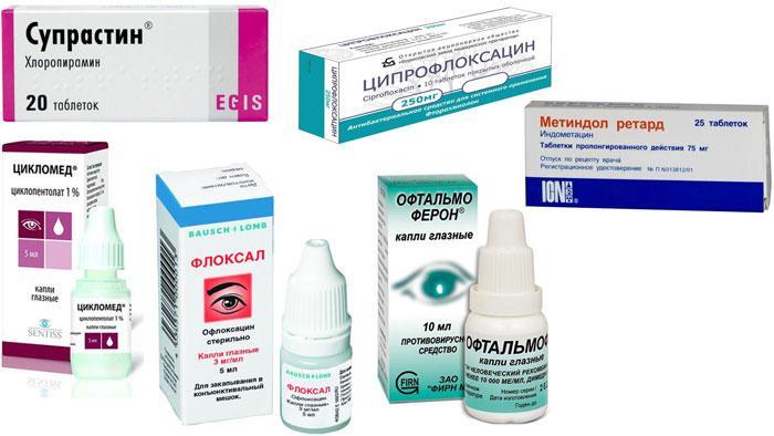 Лекарства для лечения иридоциклита
