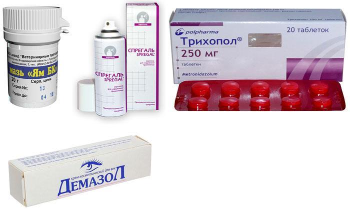 Лекарственные препараты от демодекоза