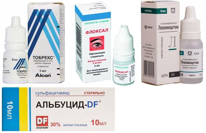 Глазные капли от бактериального конъюнктивита