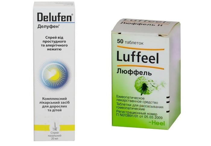 Лекарственные препараты от аллергии Люффель и Делуфен