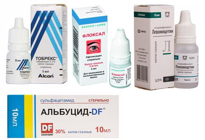 Лекарственные препараты для лечения конъюнктивита у детей